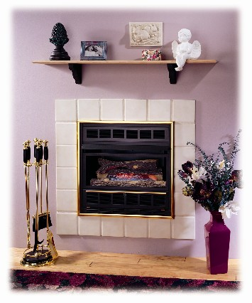Comfortglow Compact Fireplace With Brass Trim Fmconline